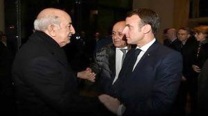 لقاء تبون بالرئيس الفرنسي