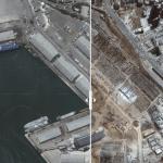 صور من الأقمار الصناعية تظهر حجم الدمار في ميناء بيروت بعد الانفجار.. شاهد المقارنة بين الصورتين