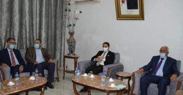 لحظة وصول الوزير سيد على خالدي إلى ولاية خنشلة
