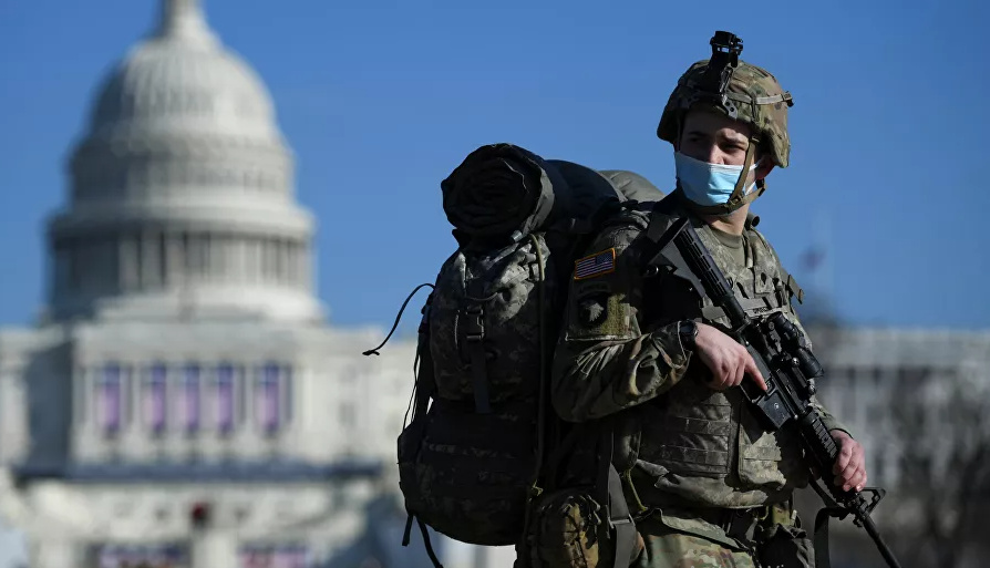 العاصمة الأمريكية واشنطن تتحول لمنطقة حرب قبل أيام من تنصيب بايدن