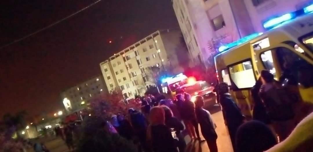 حريق بالإقامة الجامعية للبنات أولاد فايت 3 بالعاصمة