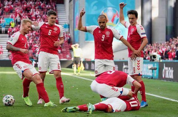 توقيف مباراة الدنمارك وفنلندا بسبب سقوط مفزع للاعب إيريغسن